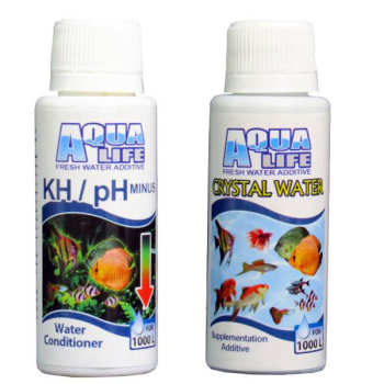 محلول  شفاف کننده آب آکواریوم آکوالایف مدل 7Daryaحجم 100میلی لیتر به همراه محلول  کاهنده کربنات