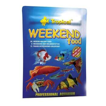 غذای خشک ماهی تروپیکال مدل Weekend Food وزن 20 گرم