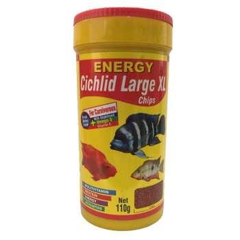 غذا ماهی انرژی مدل Cichilid Larg XL chips وزن 110 گرم