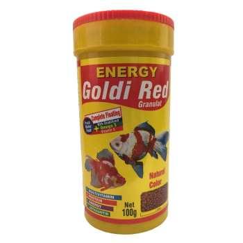 غذا ماهی انرژی مدل Goldi Red Granulat وزن 100 گرم