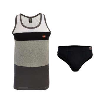 ست شورت و زیرپوش مردانه دل مد گروپ مدل 53228 کد 20901