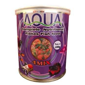 غذای ماهی آکوا مدل 4MIX وزن 100 گرم