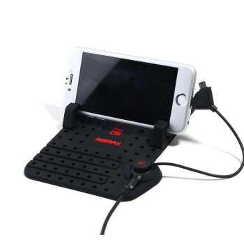 پایه نگهدارنده موبایل ریمکس مدل RC-FC1 به همراه کابل لایتنینگMicroUSB