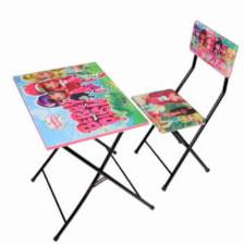 میز تحریر و صندلی طرح توت فرنگی وایت بردی،تاشو،تنظیم شونده ارتفاع