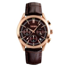 ساعت مچی عقربه ای مردانه اسکمی مدل S9127Brown