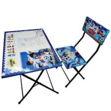 میز تحریر و صندلی طرح فوتبالیستها وایت بردی،تاشو،تنظیم شونده ارتفاع