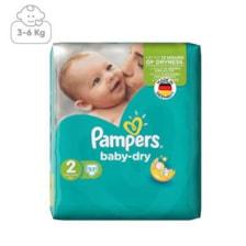 پوشک پمپرز مدل Baby Dry سایز 2 بسته 33 عددی