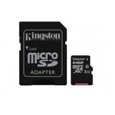 کارت حافظه microSDHC کینگستون مدل Canvas Select کلاس 10 استاندارد UHS-I U1 سرعت 80MBps ظرفیت 64 گیگابایت به همراه آداپتور SD