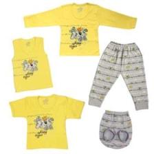 ست 5 تکه لباس نوزادی پسرانه مدل YG