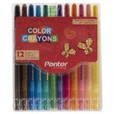مداد شمعی 12 رنگ پنتر مدل Color