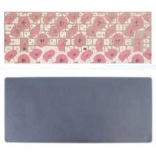 برچسب حروف فارسی کیبورد طرح گل صورتی به همراه محافظ کیبورد مدل 14-I مناسب برای لپ تاپ 14 اینچ