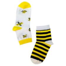 جوراب دخترانه طرح زنبور کد 02