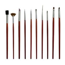 قلم موی طراحی ناخن مدل NAB01 بسته 10 عددی