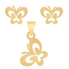 نیم ست طلا 18 عیار شانا کد S-sg08