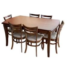 میز و صندلی ناهار خوری اسپرسان چوب مدل Sm46