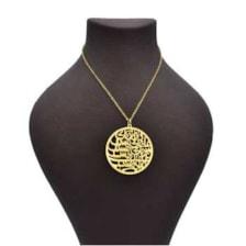 گردنبند طلا 18 عیار زنانه آمانژ طرح شعر اسلیمی کد 333D2761