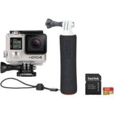 دوربین فیلم برداری ورزشی گوپرو مدل Hero4 Black به همراه کارت Micro SD و مونوپاد