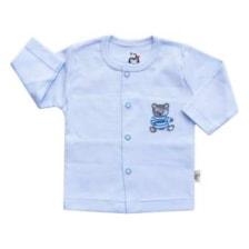 بلوز نوزادی آدمک طرح خرس رنگ آبی