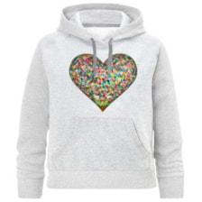 هودی دخترانه طرح قلب کد K95