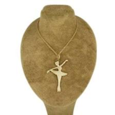 گردنبند نقره زنانه طرح باله کد UN003