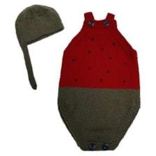 ست بادی و کلاه نوزادی طرح هندوانه کد ۵۶۷
