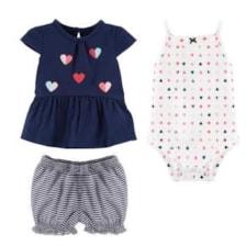 ست 3 تکه لباس نوزادی دخترانه کارترز کد 1183