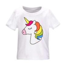 تی شرت طرح اسب تک شاخ مدل b12