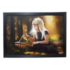 تابلو نقاشی رنگ روغن طرح دختر
