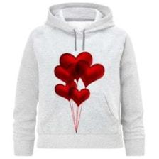 هودی دخترانه طرح بادکنک قلب کد F305