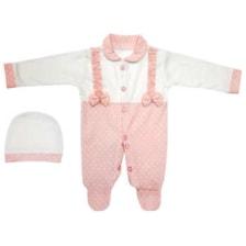 ست کلاه وسرهمی نوزادی دخترانه مدل SU54