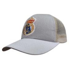 کلاه کپ پسرانه طرح رئال مادرید کد PT-30367 رنگ طوسی روشن