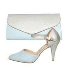 ست کیف و کفش زنانه کد st470 رنگ آبی            غیر اصل