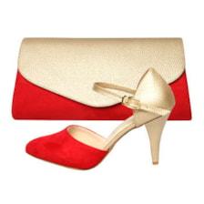 ست کیف و کفش زنانه کد st470 رنگ قرمز            غیر اصل