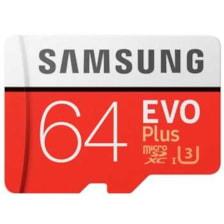 کارت حافظه microSDXC سامسونگ مدل Evo Plus کلاس 10 استاندارد UHS-I U3 سرعت 100MBps ظرفیت 64 گیگابایت