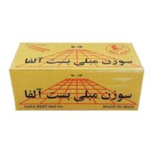 سوزن منگنه بست آلفا کد1205000 سایز 1208 بسته 5000 عددی