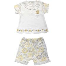 ست بلوز و شلوارک نوزادی دخترانه کد 60112