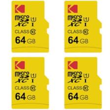 کارت حافظه microSDXC کداک مدل Premium Performance کلاس 10 استاندارد UHS-I U1 سرعت 85MBps ظرفیت 64 گیگابایت بسته 4 عددی