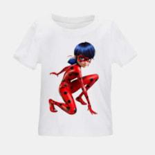 تی شرت بچگانه طرح دختر کفشدوزکی کد TSb27