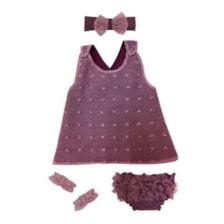 ست 4 تکه لباس نوزادی دخترانه مدل یاس کد 100