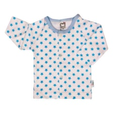 شومیز نوزادی آدمک طرح ستاره رنگ آبی