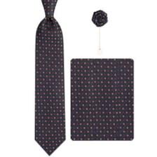 ست کراوات و دستمال جیب و گل کت مردانه جیان فرانکو روسی مدل GF-PA592-BK
