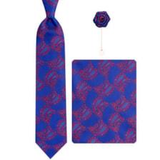 ست کراوات و دستمال جیب و گل کت مردانه جیان فرانکو روسی مدل GFG-PA600-DB