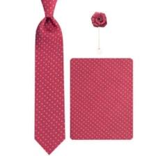 ست کراوات و دستمال جیب و گل کت مردانه جیان فرانکو روسی مدل GF-ST614-BE