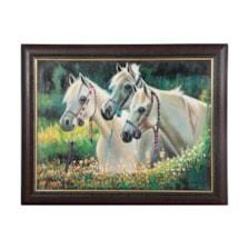تابلو نقاشی رنگ روغن طرح اسب کد 01