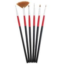 قلم موی طراحی ناخن مدل PRO بسته 6 عددی
