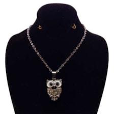گردنبند دخترانه طرح جغد کد 103