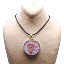 گردنبند دخترانه طرح جغد کد 105