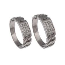 ست انگشتر نقره زنانه و مردانه کد 2433