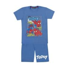 ست تی شرت و شلوارک پسرانه خرس کوچولو طرح اسپایدرمن کد 02