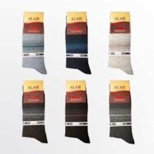 جوراب مردانه ونیز کد AL-V5 مجموعه 6 عددی